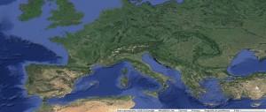 Mappa del Bacino del Mediterraneo